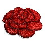 Unbekannt Teppich Shaggy Rose 3D - Rot - 80x80 cm