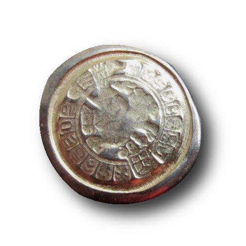 Knopfparadies - 5er Set ausgefallene Knöpfe wie antike Münzen bei Ausgrabungen entdeckt / unrund / gold- & silberfarben / Metall / Ø ca. 21 x 23mm