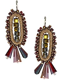 Anuradha Art Red Colour Classy Handmade Designer Party Wear Fancy Long Earrings For Women/Girls
