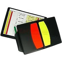 TACCUINO ARBITRO COMPLETO (con cartellini 10x7.5 cm + matita + cartoncino segnatutto) per CALCIO 11 o CALCIO A 5