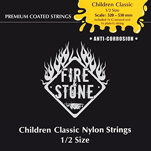 Fire&Stone Saiten für Klassik-Gitarre Fire&Stone Kindergitarren-Set - 1/2 Grösse