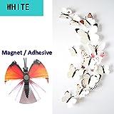 ufengke® 12 Piezas Mariposas 3D Pegatinas de Pared Diseño de Moda Mariposa Colorida Bricolaje Calcomanías Arte Artesanía Decoración del Hogar, Blanco