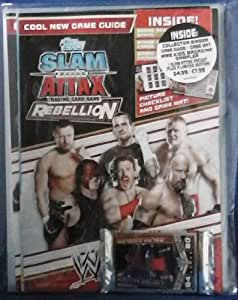 WWE Topps Slam Attax Rebellion Starter Binder - with booster pack and Foil card