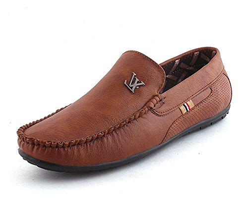 10. Chokas Men's Brown Casual Loafer Shoes