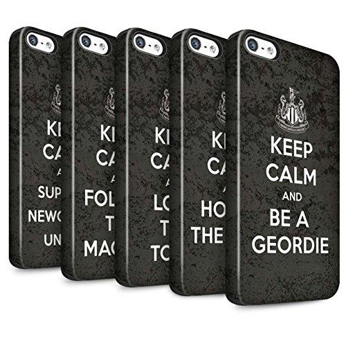 Officiel Newcastle United FC Coque / Matte Robuste Antichoc Etui pour Apple iPhone 5/5S / Pack 7pcs Design / NUFC Keep Calm Collection Pack 7pcs