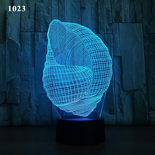 Visage abstrait 3D Lampe Sept Couleurs Télécommande Tactile LED Lampe Creative Products Gift Night Lamp, Mille vingt-trois