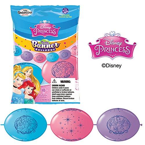 Unbekannt Qualatex 15034Disney Princess 30,5cm Latex Party Banner Luftballons 10ct (Princess-banner Disney)