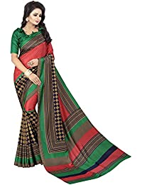 MAC Sarees Women's Cotton Silk Saree With Blouse Piece (MAC46_Green)