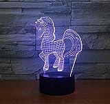 Buntes Licht der Nacht 3d Einsteckfernsteuerungsfarbwechsellampe neues merkwürdiges kreatives Geburtstagsgeschenk geführt