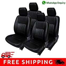 Autofact Brand PU Leatherite Car Seat Covers for Maruti Car 800 Old Model in Full Black
