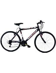 F.lli Masciaghi DMU26118B Montaña Acero Negro, Azul, Amarillo bicicletta - Bicicleta (Vertical, Montaña, Acero, Adultos unisex, Negro, Azul, Amarillo, Cadena)