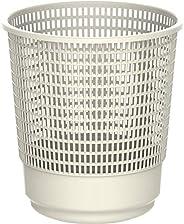 Cosmoplast Plastic Round Trash Waste Bin Paper Basket Large, Off White, 15 Liters, IFHHBK042OW