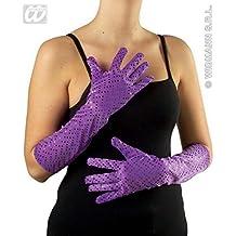 Largo Guantes / Accesorios de disfraz de Lentejuelas - Tejido en púrpura adecuados para Trajes de la Serie 20 Años / Showkostueme / Apariciones de glamour / Grupos de danza