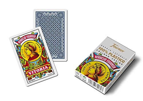 Baraja española Fournier. Calidad casino. 50 cartas de plastico lavable.