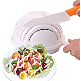 Inovera Salad Cutter Strainer Bowl Vegetable Fruits Cutting Bowl, White