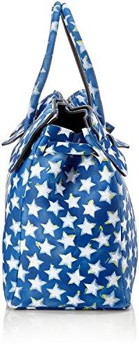 save my bag Miss 3/4, Borsa a Mano Donna, 39.5x34x19 cm (W x H x L) Blu (Stars)