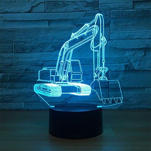 LT&NT 3D Lampes Illusions optiques, Pelle Nuit lumière Table Lampes de Bureau, Toucher la Base LED Lampe 7 Couleurs Changement USB câble Kids Enfants Jouet étonnant noël Cadeaux décoration -Toucher