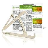 Washati Fettmesszange - Körperfettmessgerät zur Messung der Hautfaltendicke und Umrechnung