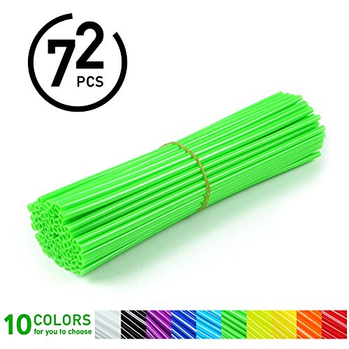 VGEBY Spoke Skins Motociclo, 72 Pcs Cerchioni Skins Dirt Bike Enduro Motocross Wheel Enduro Cerchione Ruota -10 Colori ( Colore : Verde )