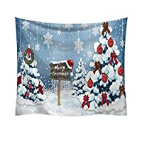 Christmas Decorations Wall Hanging Tapestries 37.4 * 28.7 inch, Xmas Printing Home Tapestries for Living Room Bedroom Dorm Décor G1