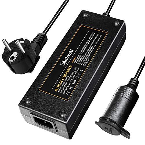 AstroAI Convertisseur 220V 12V, Adaptateur Prise Allume-Cigare Secteur Electrique 120W, 10A AC à DC Adaptateur
