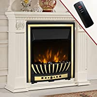Wickenby 2KW Remote Control Modern Electric Fireplace LED Fire Place Heater Insert Flame Effect Stove