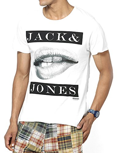 Jack & Jones Men Casual T-Shirt (5712068160194 Cloud Dancer Small )  available at amazon for Rs.397
