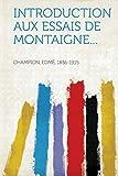Cover of: Introduction Aux Essais de Montaigne... |