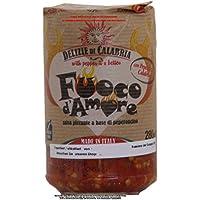 Delizie di Calabria Fuoco d`Amore Salsa piccante a base di peperoncino 2 x 280g = 560g/Sauce mit Chili sehr scharf.
