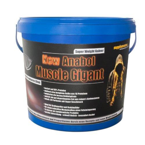 Preisvergleich Produktbild New Anabol Muscle Gigant! 2,27kg Eiweiss Anabol Muskelaufbau Gainer BCAA Masse Protein Geschmack Vanille