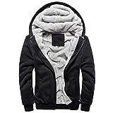 TIFIY Herren Hoodie Winter Warme Sweatshirt Reißverschluss Sweater Jacke Outwear Mantel Tops Blusen(A_ h,EU 42/CN L)