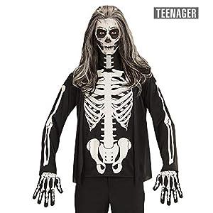WIDMANN?Camiseta Esqueleto Mens, 164cm/14?16años, vd-wdm07400