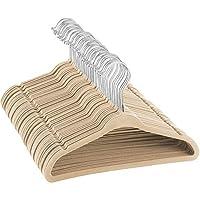 ZOBER Non Slip Velvet Kids Hangers - Space Saving Lightweight Childrens Coat Hanger - 360° Swivel Hook - Durable Junior Velvet Clothes Hangers- Kids Coats, Jackets, Trouser, Dress & Shirt