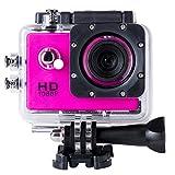 BriskyM SJ4000Full HD 1080p Kamera 12MP 30m Wasserdicht Action Sport-Kamera DV Auto DVR unterstützt SD bis 32GB, rose