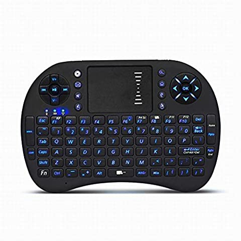 Sonnics 2.4GHz Mini Wireless Backlit Keyboard with Touchpad Mouse KODI XBMC Rechargable Multifunction Handheld Android Keyboard for PC Laptop Raspberry PI MacOS Linux HTPC IPTV Google Smart TV Android Boxes XBOX 360 PS3 Windows 7 8