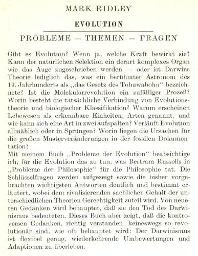 Probleme in der Evolution: PROBLEME - THEMEN - FRagen