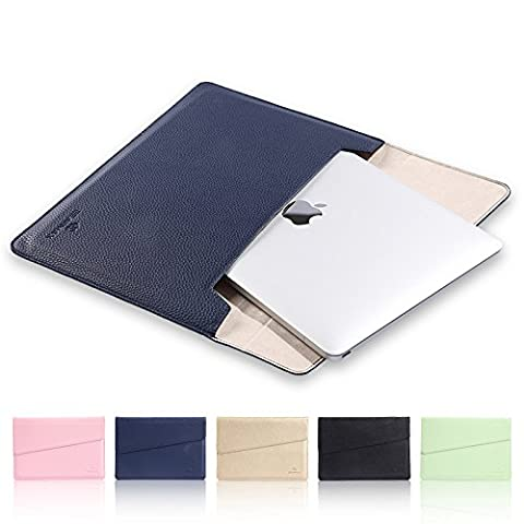 Tablet Sleeve For 12 inch Laptop(NOt Fit 11 inch to 11.6 inch) ,TechCode New MacBook 12-Inch Laptop Sleeve Bag, PU Leather Protective Notebook Carrying Case Cover for All the display with 12 inch Only fit for the 12 inch