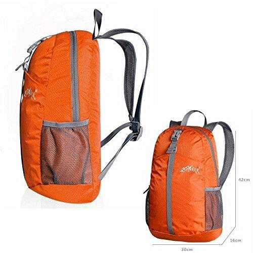 Imagen de mctech 20l ultraligero del recorrido del morral de nylon impermeable plegable para viajes de camping al aire libre deportes viajes ocho colores disponibles naranja alternativa