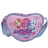 Perletti - Sac à main Paw Patrol / Girl Pup Power – Sac à main pour petite fille en forme de cœur - 14 x 18 x 6 cm