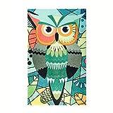 Kleentex Teppich Abstract Owl 70cm x 120cm Teppichläufer Fußmatte Bodenbelag