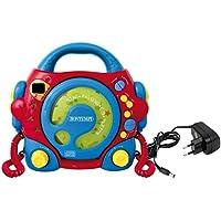 Bontempi - Reproductor para CD y mp3 con micrófonos, Fuente de alimentación y Toma USB (Spanish Business Option Tradding 43 9980)