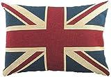 gefüllt Evans Lichfield Union Jack Chenille Flagge hergestellt im GB Kissen 17