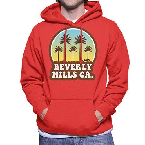 Coto7 Beverly Hills California 70s Beach Drive Men's Hooded Sweatshirt