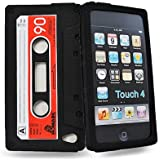 Accessory Master - Housse Cassette en silicone pour Apple iPod touch 4 - Noir