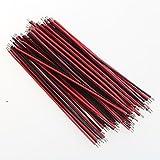 DNGY* La Línea 7 0,9MM Aberdeen 8cm de largo cable rojo y negro y el cable (100pcs)