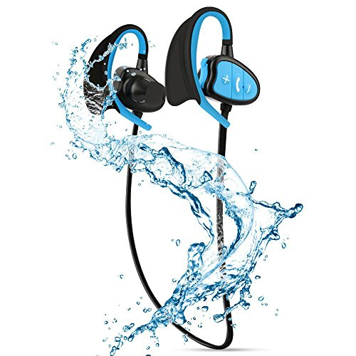 Festnight Cuffie Bluetooth Impermeabili IPX8 Cuffie Stereo CSR Wireless con Microfono Bass Sport Running Earphone