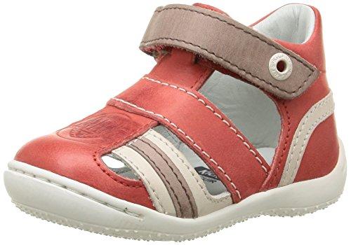Kickers Glups, Chaussures Bébé marche bébé garçon Rouge (Rouge/Beige)
