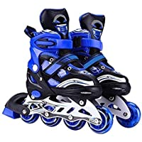 MRUD Adjustable Skating Shoes Comfertable Skate for Outdoor Fun with Roller Skates for 5-16 Yrs Boys and Girls