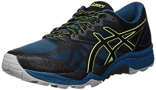 Asics Gel-Fujitrabuco 6, Zapatillas de Running para Hombre, Azul (Deep Aqua/Black 400), 43.5 EU