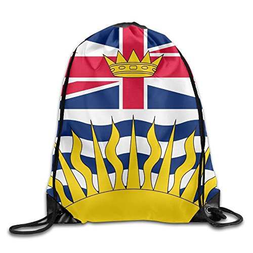 Have You Shop Unisex Canada British Columbia Flag Print Drawstring Backpack Rucksack Shoulder Bags Gym Bag Sport Bag (British Open Flag)
